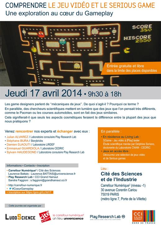 Symposium Gameplay à la cité des Sciences 17 avril 2014