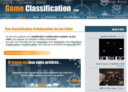 Game Classification - la classification du jeu vidéo