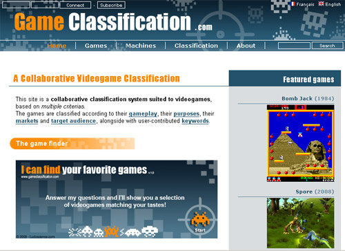 Game Classification - the videogame classification
