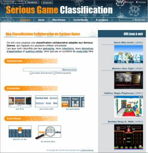Serious Game Classification